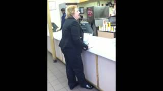 Crazy Woman at Wendys Just Wants a Chicken Sandwich