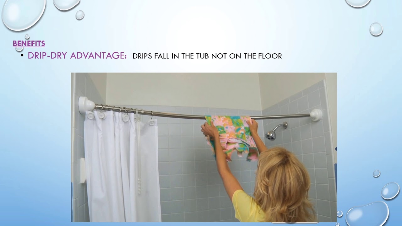 the curved shower rod made for small bathrooms