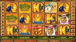 Playtech Slot Desert treasure hit 2 bonus and 2 free spins rounds.