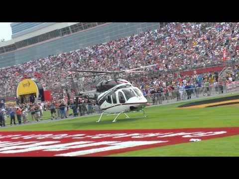 Kurt Busch's landing at Charlotte Motor Speedway