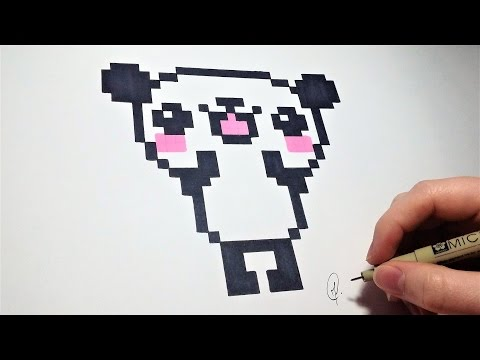 Dessin Panda Pixel Art Facile Youtube