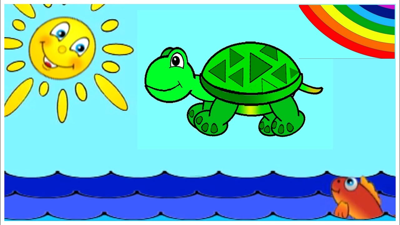 Learn Colors with GREEN TORTOISE - Children's Interactive Educational Videos: Kid's Lesson