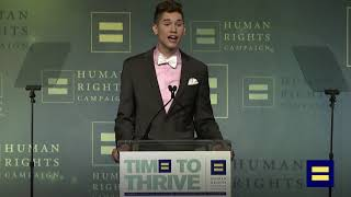 Youth Ambassador Seth Owens Speaks at the 2019 HRC Time To THRIVE