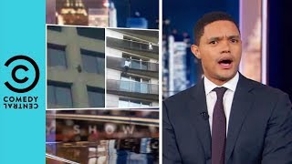 Daredevil Racoon Scales Skyscraper | The Daily Show With Trevor Noah