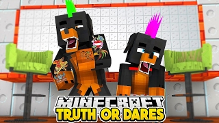Minecraft Challenge -  TRUTH OR DARE - Little Baby Max and Donut the Dog Roleplay