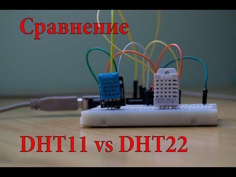 DHT11 Vs DHT22. Обзор, тест и сравнение