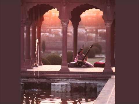 Sitar in the Shalimar Gardens - Saffron - Drawing
