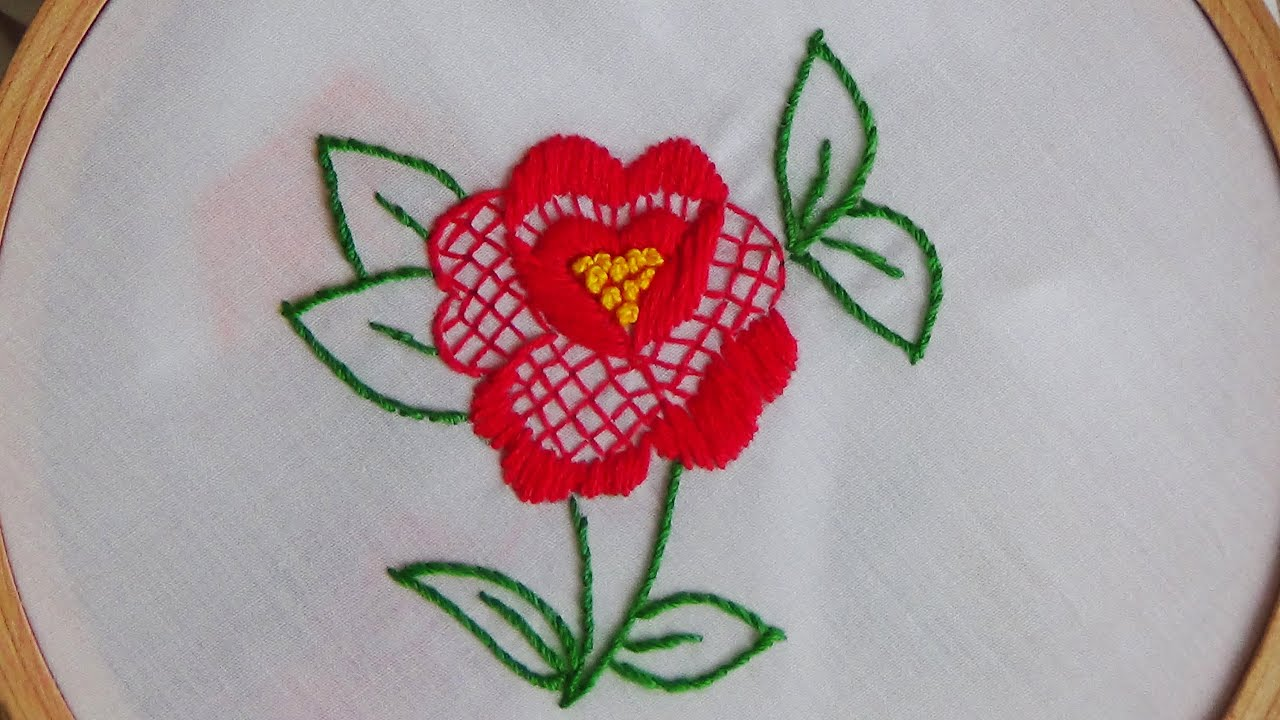 Hand Embroidery Filling Stitch Combination Youtube