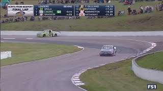 Austin Cindric Wrecks Kaz Grala for Win - NASCAR Trucks 2017 Mosport