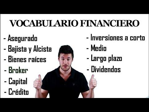 VOCABULARIO FINANCIERO Clase de Educación Financiera