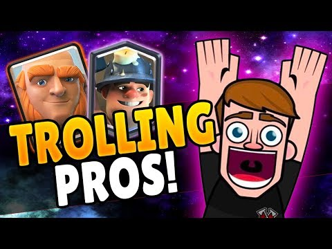 PRANKING THE BEST GIANT PLAYER IN THE WORLD! [GONE WRONG] | Clash Royale