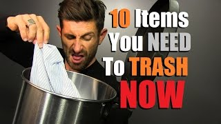 TRASH These 10 Items NOW!! Items In Your Wardrobe You Need To Throw Out (Donate)