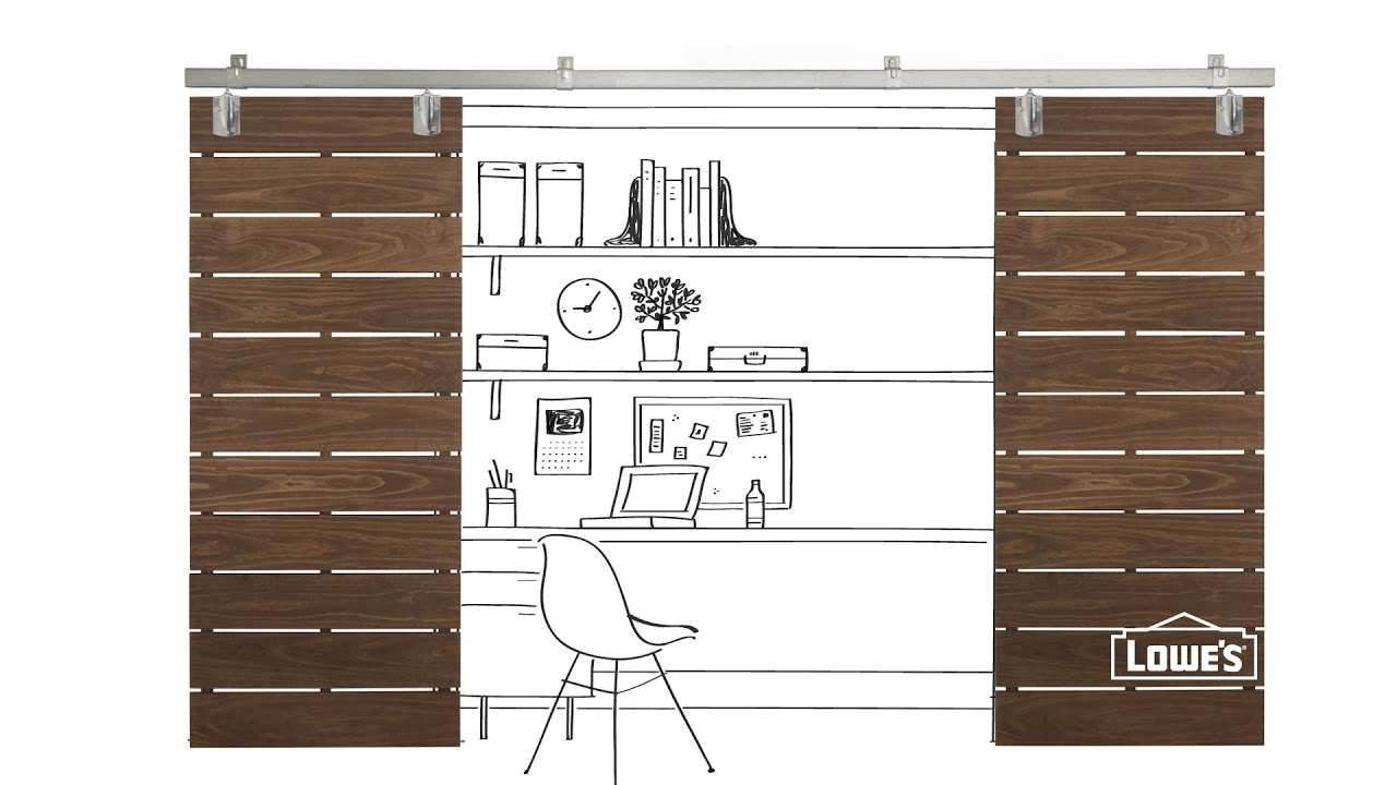 DIY Slatted Sliding Door Plans - YouTube