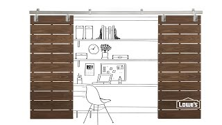 Diy Slatted Sliding Door Plans