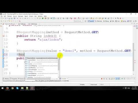 Ajax in Spring MVC Framework