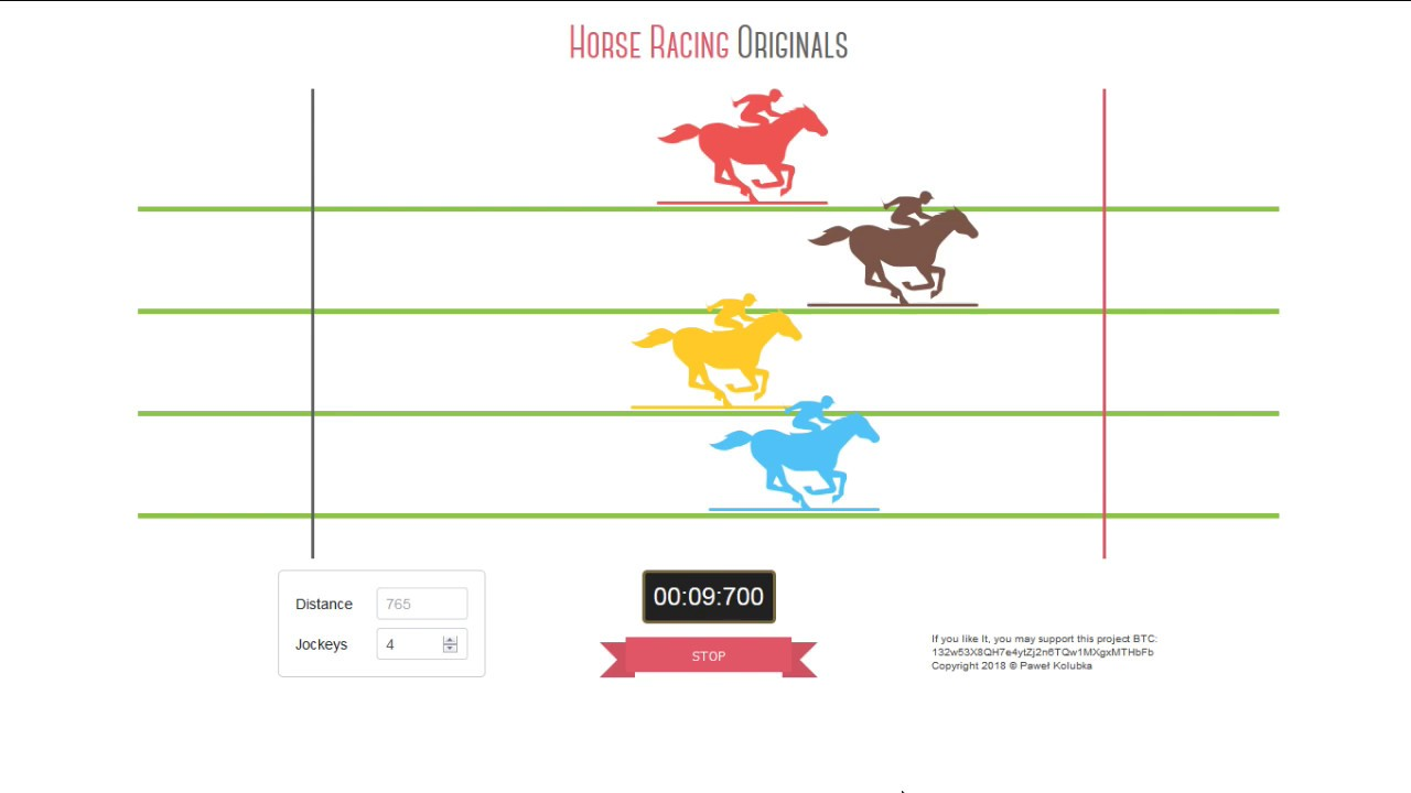 Horse Racing In Html5 And Javascript Youtube