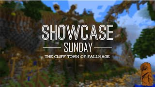 Minecraft Showcase Sunday - Steampunk Cliff Town Showcase - The Cliff Town of FallMage