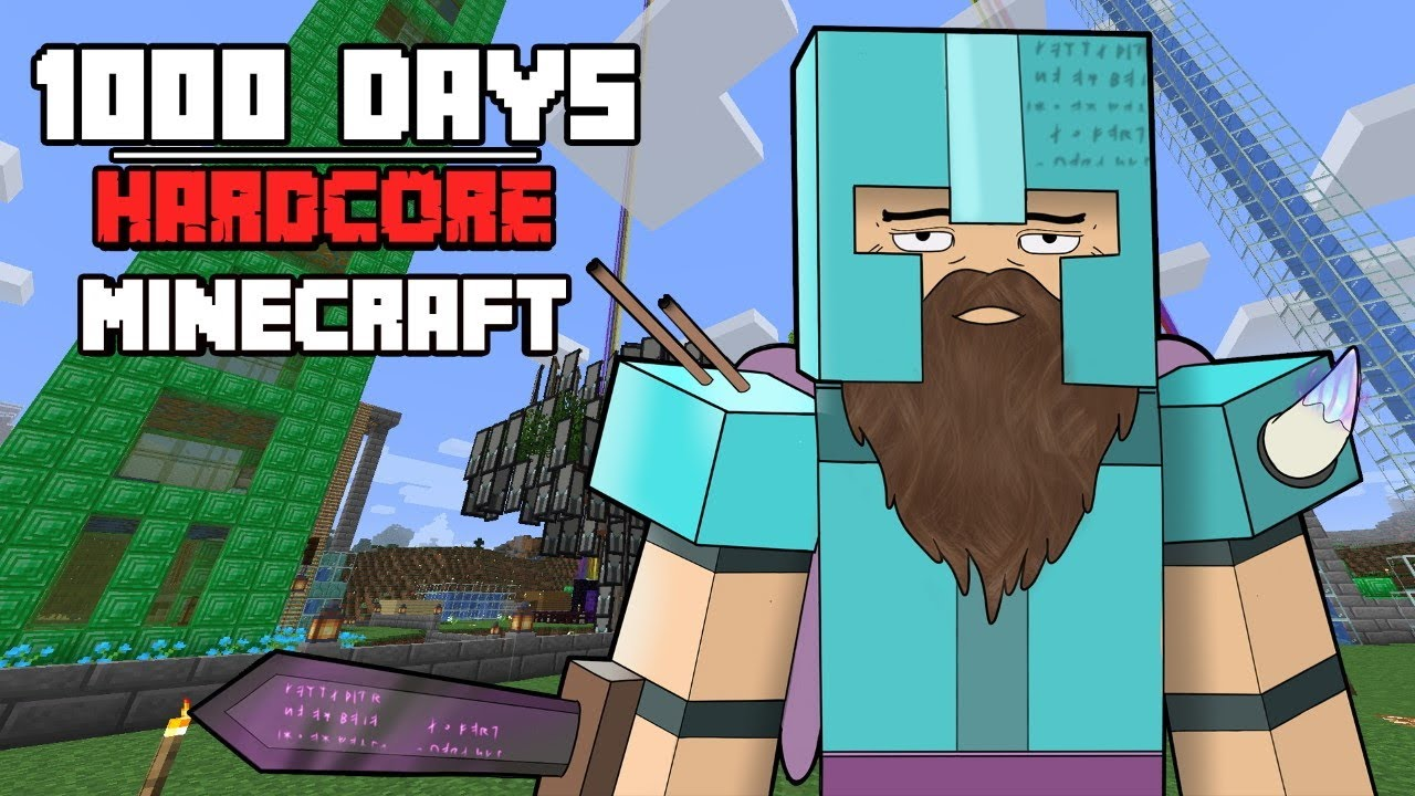 I Survived Hardcore Minecraft For 1000 Days And This Is What