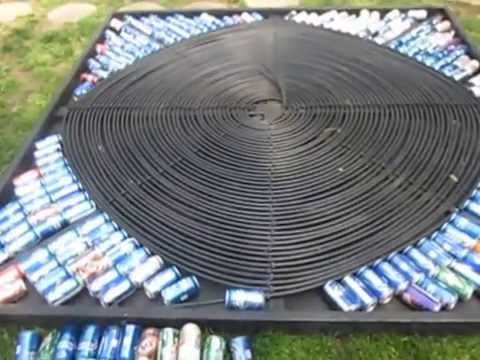Solar Hot Water Tubing Can Pool Heater Build Part 4 Of 5