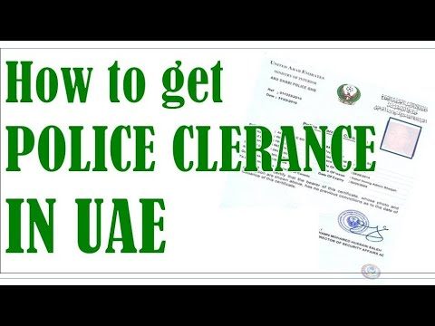"""How to Get PCC In Dubai  """"Police Clearance Certificate"""""""