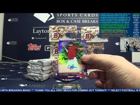 2017 Bowman Draft Baseball Jumbo 8 Box Case Break #34 – RANDOM TEAMS