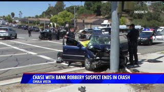 Chase With Bank Robbery Suspect Ends in Crash