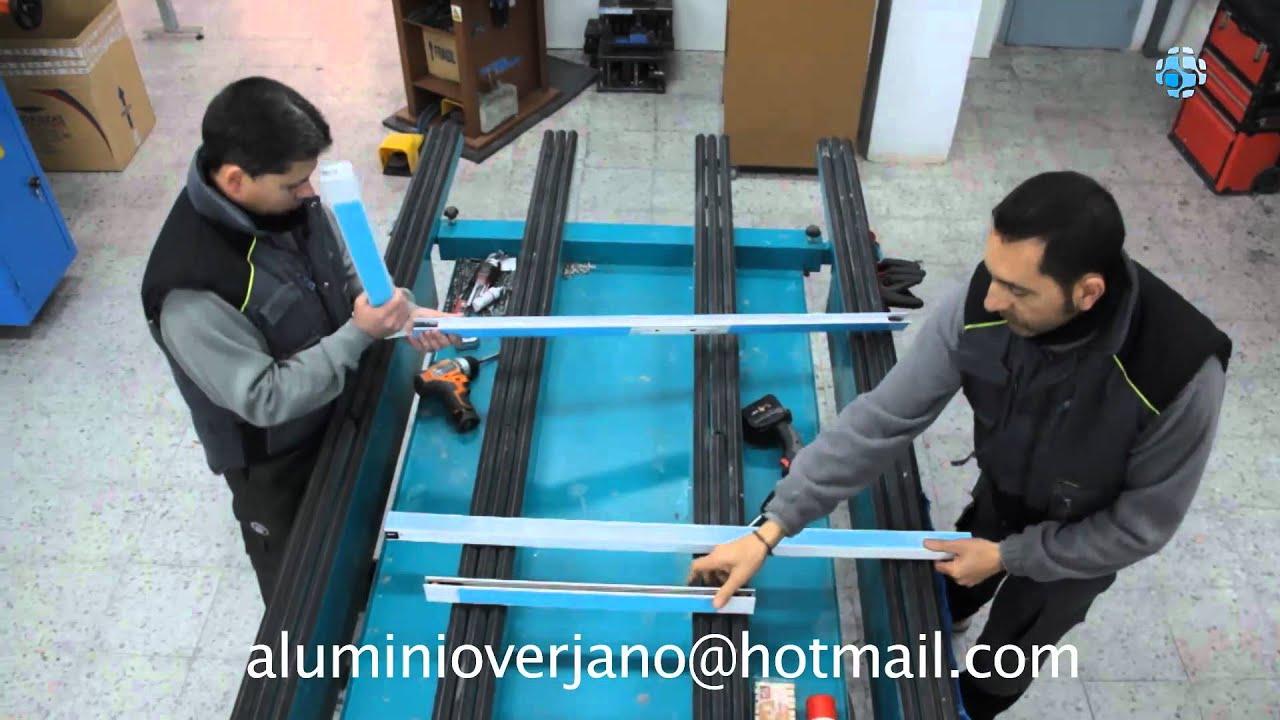 Carpinter a de aluminio madrid fj verjano youtube for Carpinteria de aluminio en madrid