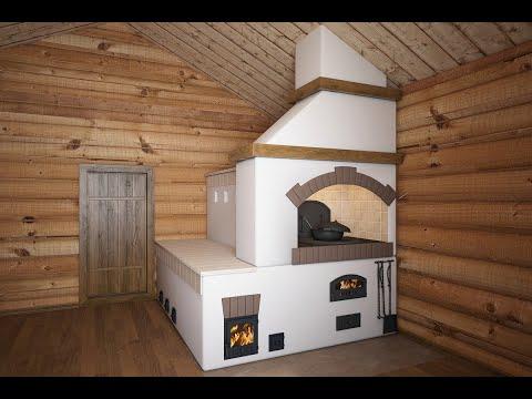 Как строится русская печь с лежанкой (Часть 1)