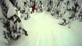 skiing Whitewater B.C. Feb2011