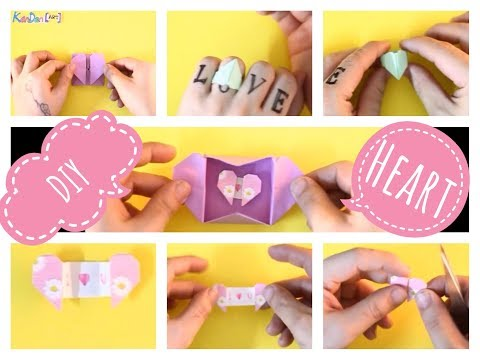 DIY 3 Easy Origami Paper Heart ( Heart Envelope with secrets message , Hearts Box and Heart Ring )