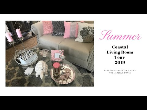 DDOAD: Summer Coastal Living Room Tour 2019 thumbnail