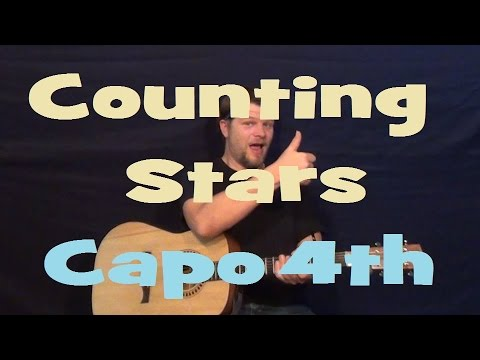 Counting Stars (One Republic) Easy Strum Guitar Lesson - Chord How ...