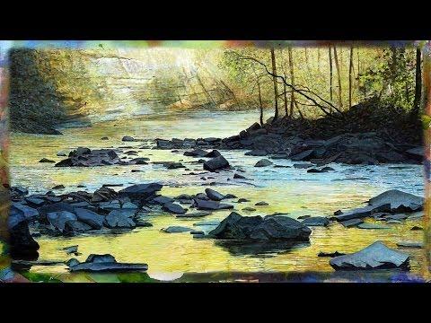 Digital Landscape Painting Demonstration on an iPad, Taughannock Falls