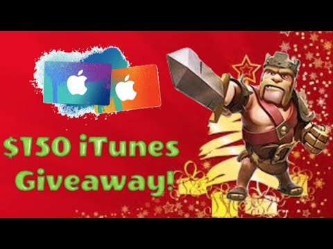 $150 ITunes New Year/Holiday Giveaway | Free Gems For Clash Of Clans | Free ITunes