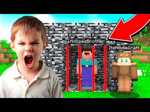 TROLLING MY LITTLE BROTHER IN MINECRAFT!