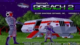 Breach 2 gameplay (PC Game, 1990)