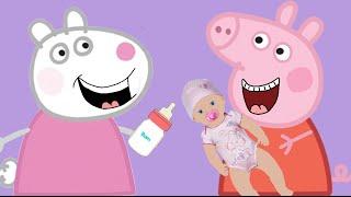 Свинка Пеппа# с Сьюзи распаковывают #КУКЛУ БЕБИ БОН ОНА ОЖИВАЕТ МУЛЬТИК