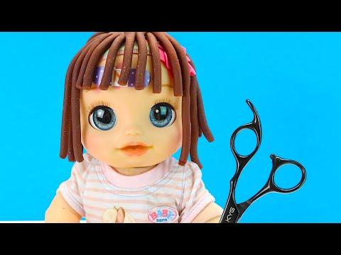 Девочки Смеются над Олей: Делаем Прическу из Плей До Мультики Как Мама Куклы 108мама тв