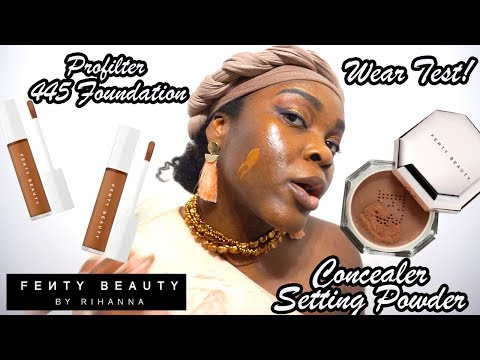 So This Is What Happened! Fenty Beauty Concealer and Setting Powder Pro Filter Foundation 445