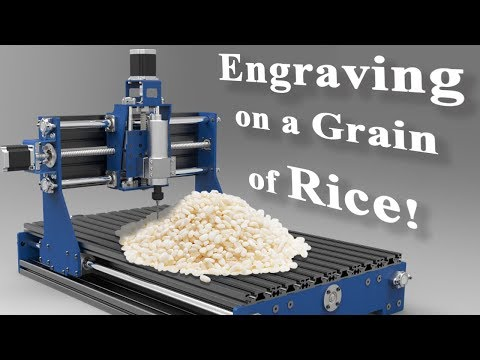 Engraving on a Grain of Rice! // Mini cnc engraver