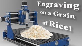 Engraving on a Grain of Rice! // Mini cnc engraver