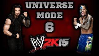 WWE 2K15 - Roman Reigns VS Jimmy Uso | Universe Mode 6 [New Gen]