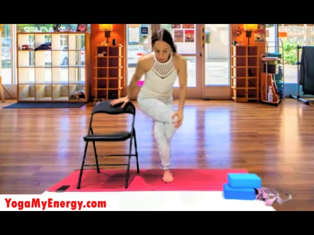 Easy Chair Yoga with deep breathing to relax and to stretch.