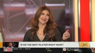 Rachel Nichols & Chiney Ogwumike QUESTIONED: Is Kevin Durant the best player right now? | The Jump