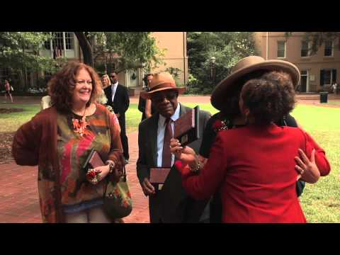 My Carolina Alumni Association presents historic Horseshoe bricks to desegregation pioneers