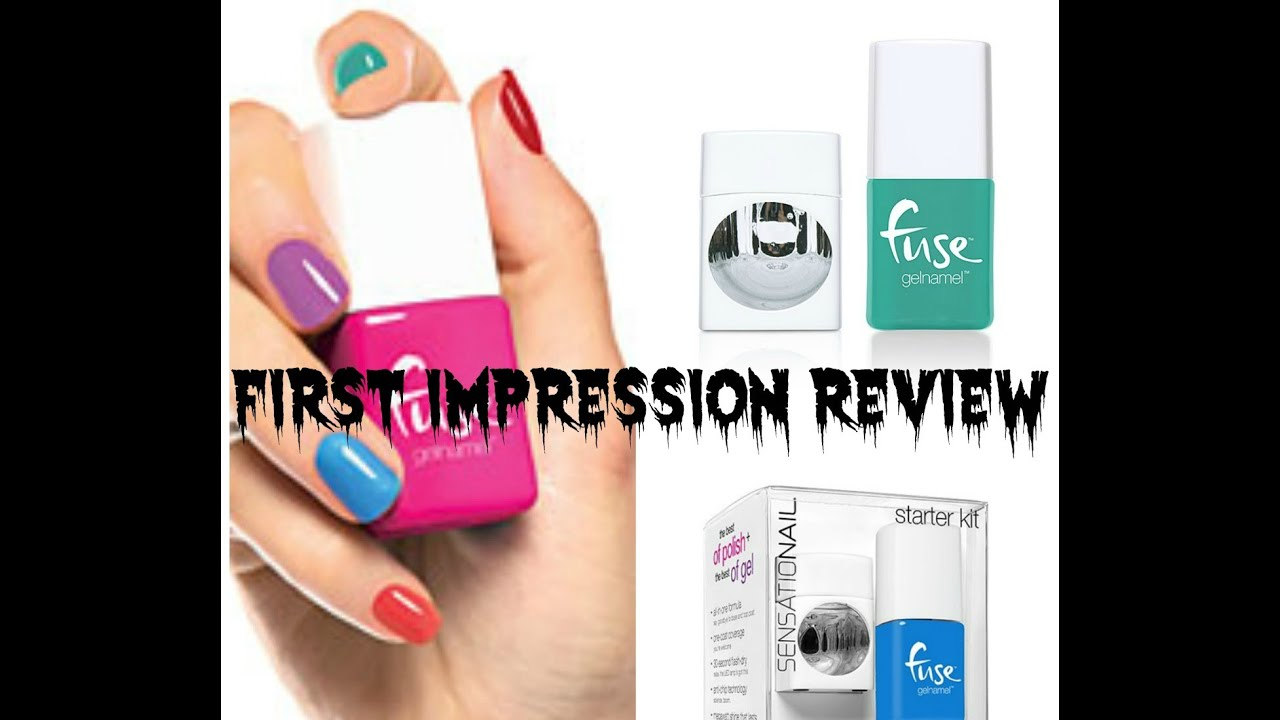 First Impression Review of Fuse Gelnamel Polish - YouTube