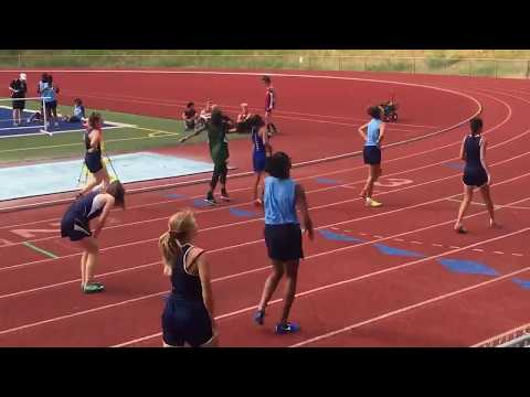 Kianna Valdez -  2nd place in 200 hurdles for 2017 Kent/Tahoma middle school district