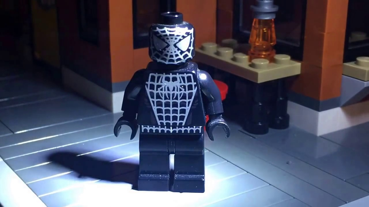 Lego spider man 3 symbiote spider man suit custom printed minifigure review youtube - Lego the amazing spider man 3 ...