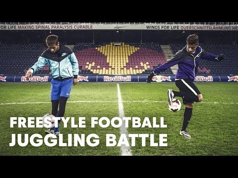 Hachim Mastour vs. Neymar Jr. - Freestyle football juggling battle
