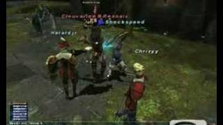 FFXI Dragoon lvl 60 AF Helm NM fight